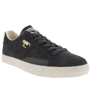 Mens Puma Navy Tennis Match Vulc Trainers