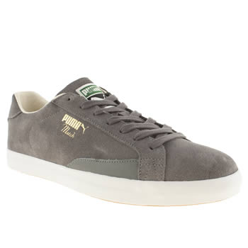 mens puma grey match vulc trainers
