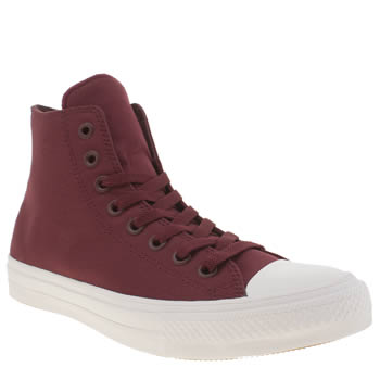 Converse Burgundy Chuck Taylor All Star Ii Hi Trainers