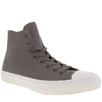 Mens Converse Dark Grey Chuck Taylor All Star Ii Hi Trainers