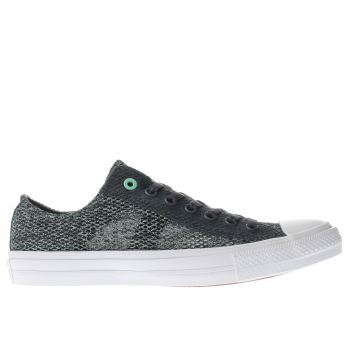 Converse Grey & Green All Star Chuck Ii Ox Trainers