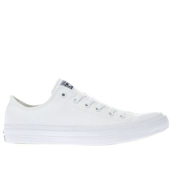 Mens Converse White Chuck Taylor All Star Ii Ox Trainers