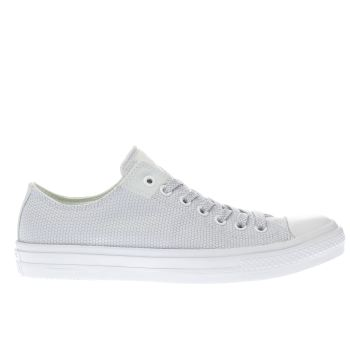Converse White & Pl Blue Chuck Taylor Ii Ox Trainers