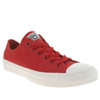 Converse Red Chuck Taylor All Star Ii Ox Trainers