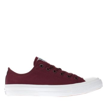 Converse Burgundy Chuck Taylor All Star Ii Ox Trainers