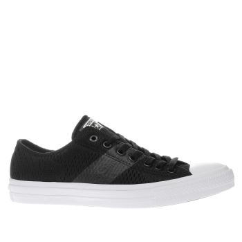 Converse Black All Star Chuck Ii Ox Trainers