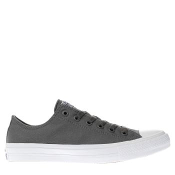 Mens Converse Dark Grey Chuck Taylor All Star Ii Ox Trainers