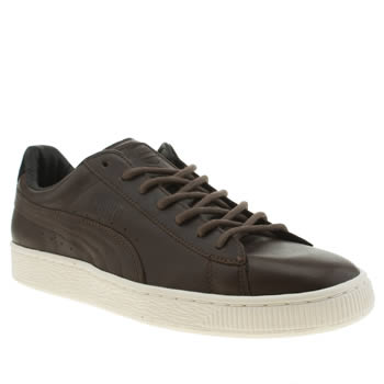 Mens Puma Brown Basket Citi Series Trainers