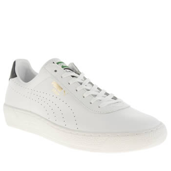 Mens Puma White & Navy Star Trainers