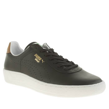 Mens Puma Black Star Trainers