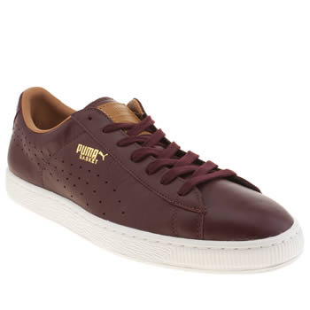 Mens Puma Burgundy Basket Classic Citi Series Trainers