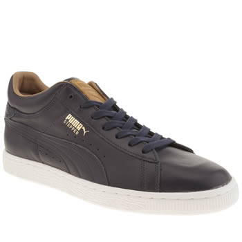 Mens Puma Navy Stepper Classic Citi Series Trainers