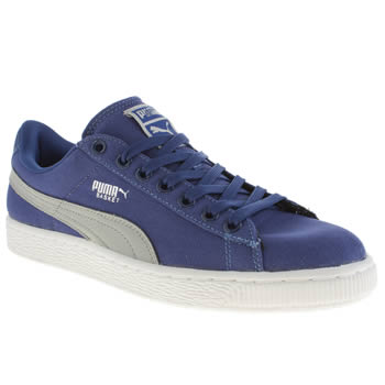 Mens Puma Blue Basket Classic Trainers