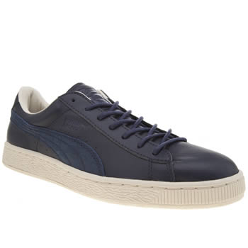 Puma Navy Basket Classic Citi Series Mens Trainers