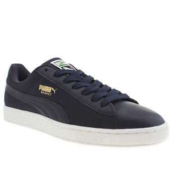Puma Navy Basket Classic Trainers