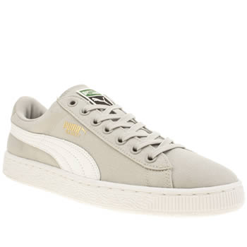 Mens Puma Light Grey Basket Classic Trainers