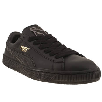 Mens Puma Black Basket Classic Trainers