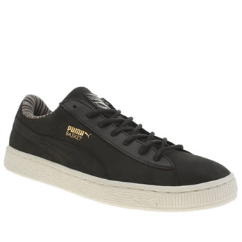 Mens Puma Black Basket Classic Citi Series Trainers