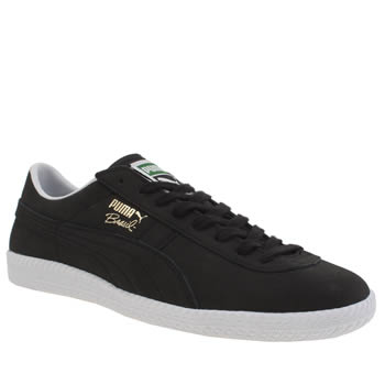 Mens Puma Black Brasil Trainers
