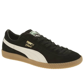 Mens Puma Black & White Brasil Trainers