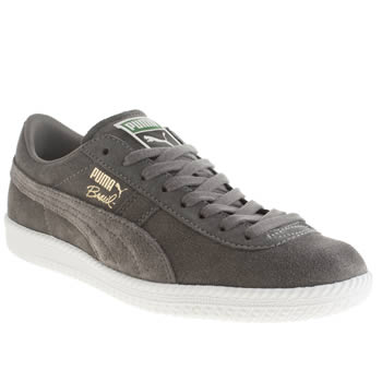 Mens Puma Grey Brasil Trainers