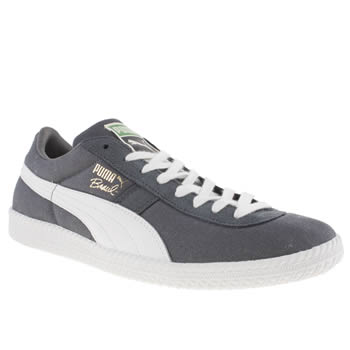 mens puma dark grey brasil trainers