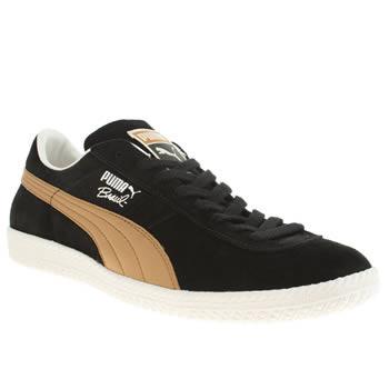Mens Puma Black Brazil Football Vintage Trainers