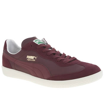 Puma Burgundy Super Liga Og Trainers