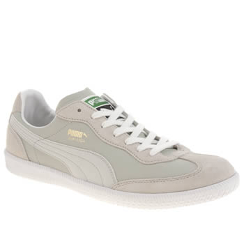 Mens Puma Light Grey Super Liga Og Trainers