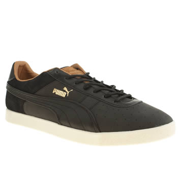 mens puma black lopro gv trainers