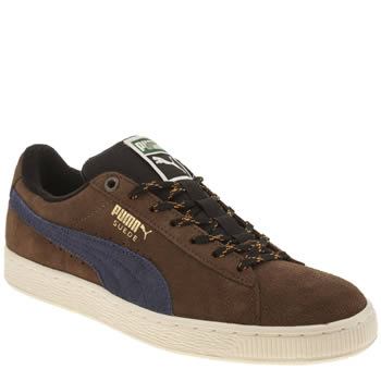 Mens Puma Brown Suede Classic Winterized Trainers