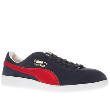 Puma Navy & Red Bluebird Mens Trainers