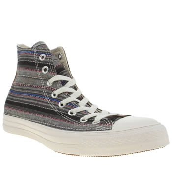 Mens Converse Grey & Black Crafted Textile Hi Trainers