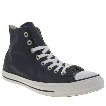 Converse Navy Chuck Taylor All Star Leather Trainers