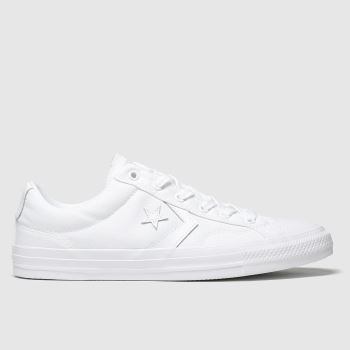 mens converse white star player ev trainers