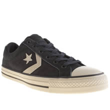 Navy & White Converse Star Player Lo Suede