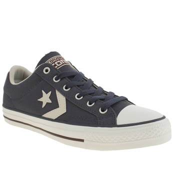 Converse Navy & White Star Player Trainers