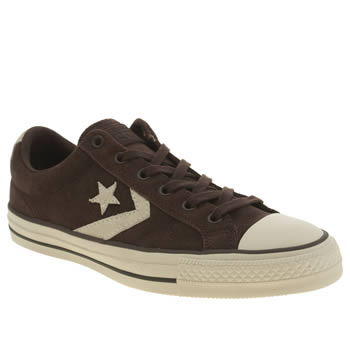 Mens Converse Dark Brown Star Player Ox Trainers