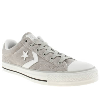 mens converse grey star player jersey trainers