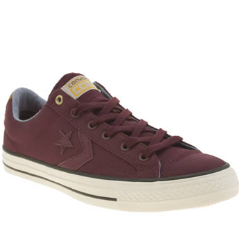 Mens Converse Burgundy Star Player Workwear Ox Trainers