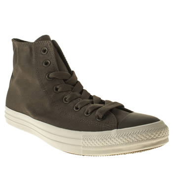 mens converse dark grey core plus hi trainers