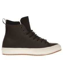 Converse Dark Brown Chuck Ii Mesh Backed Leather Mens Trainers