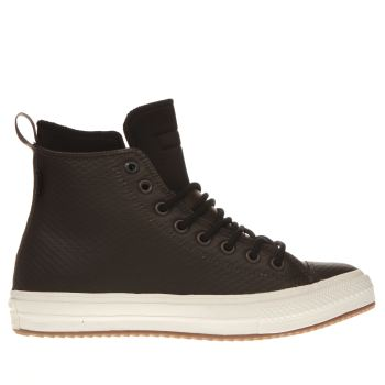 Converse Dark Brown Chuck Ii Mesh Backed Leather Trainers