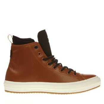 Converse Tan Chuck Ii Mesh Backed Leather Mens Trainers