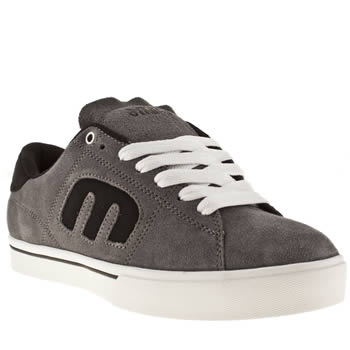 mens etnies grey & black santiago trainers