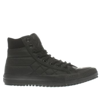 Converse Black All Star Boot Quilted Leather Trainers