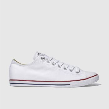 Mens Converse White & Red Lean Ox Trainers
