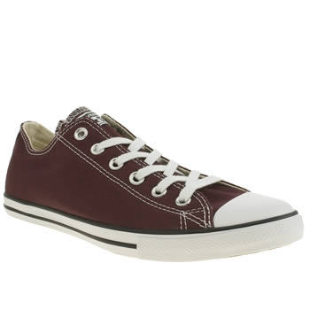 Converse Burgundy Lean Oxford Trainers