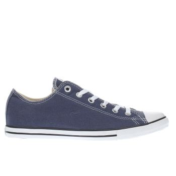 Mens Converse Navy & White All Star Lean Ox Trainers