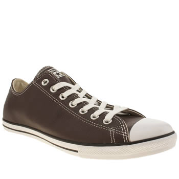 Mens Converse Brown Chuck Taylor All Star Lean Ox Trainers